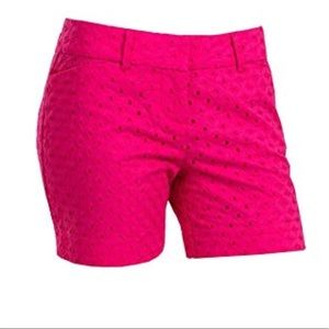 The Limited Pink Eyelet Tailored Shorts